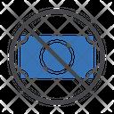 No Money No Cash Stop Icon