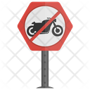 No Motorcycle Icon