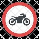 No Motorcycle Icon