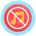 Avoid Music No Music No Song Icon