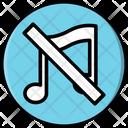 Mute Music Audio Icon