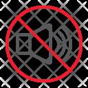 Sound Noise Stop Icon