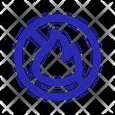 No Open Flames Icon