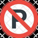 No Parking No Parking Area Road Icon