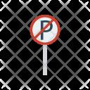 Sign Board Block Icon