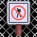 No Pedestrian No Walking Pedestrian Prohibition Icon