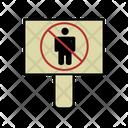 No Pedestrian Board Icon