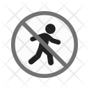 No Pedestrian Crossing Icon