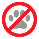 Pet Warning Paw Icon