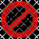 Pet Warning Paw Icon