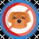 No Pet Allowed Forbidden Sign Icon