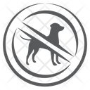 Not Pet Allowed No Dog Dog Forbidden Icon