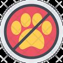 No Pets Forbidden Animals Icon
