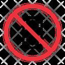 No Phone Prohibition Forbidden Icon
