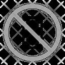 No Phone Warning Prohibition Icon
