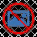 Photo Picture Ban Icon