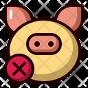 No Pig Ramadan No Eat Icon