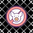 No Pork Pig Icon
