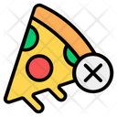 No Pizza No Junk No Fast Food Icon