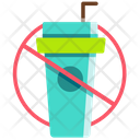 No Plastic Cup Icon