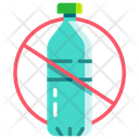No Plastic Bottle Icon