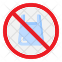 No Plastic Bag Plastic Bag Icon