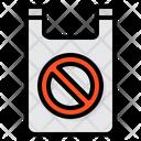 No Plastic Bag Pollution Ban Icon