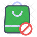 No Plastic Bag Ban Bag Icon