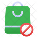 No Plastic Bag Icon