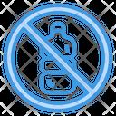 No Plastic Bottles Icon
