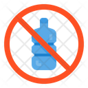 No Plastic Bottles Icon