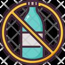 No Plastic Bottles Plastic Bottle No Liquid Icon