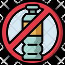 No Plastic Bottles No Plastic Pollution Icon