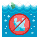 No Plastic Pollution Icon