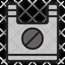 No Platic Bag Ban Plastic Icon