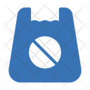 No Polythin Bag No Plastic Bag Bag Icon