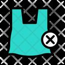 Plastic Bag Stop Icon