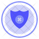 No Protection Safety Shield Icon