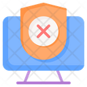 No Protection Security Icon