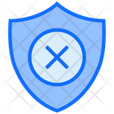 No Protection Protect Shield Icon