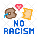 No Racism Torn Icon