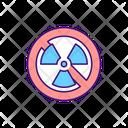 No Radiation Sign Icon