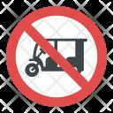No Rickshaw Parking Icon