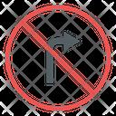 No Right Turn Icon