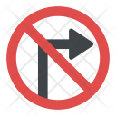 No Right Turn Icon