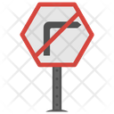 No Right Traffic Icon