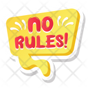 No Rules No Rules Bubble Social Media Icon