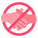 Dont Touch Prohibited Shake Hands Icon
