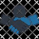 No Shake Hand Icon