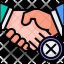 No Shake Hand No Handshake No Virus Sprad Icon